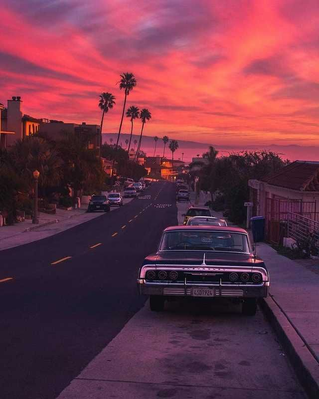That's why they call it Sunset Blvd.