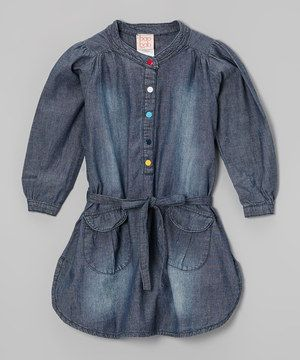 This baobab Navy Chambray Shirt Dress - Toddler & Girls by baobab is perfect! #zulilyfinds