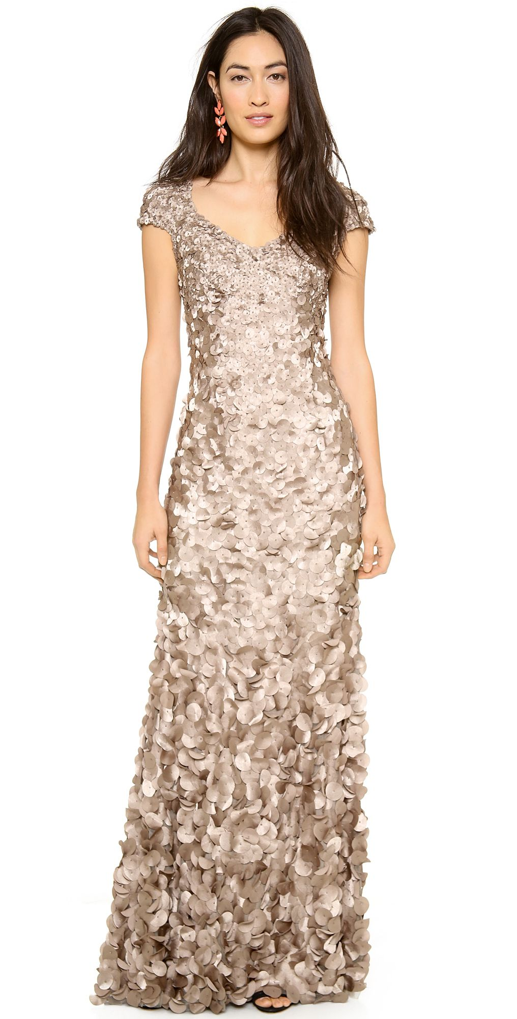 Theia Petal Cap Sleeve Gown | SHOPBOP | Dresses | Pinterest