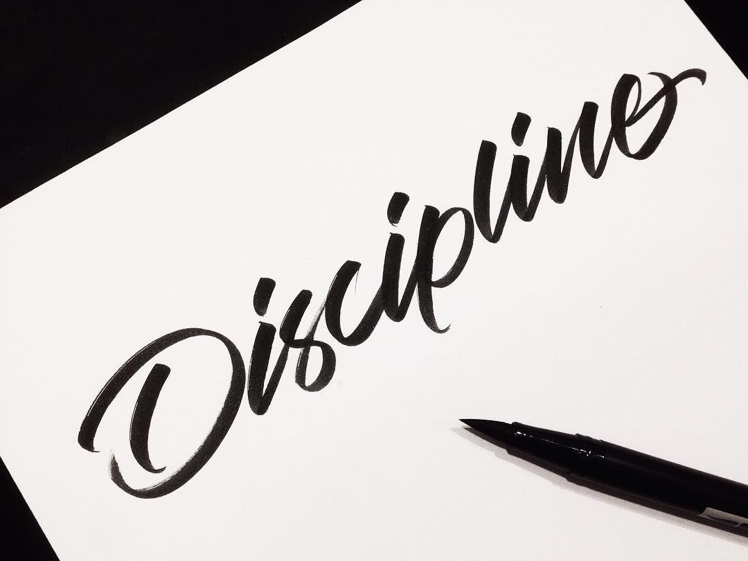 Brush calligraphy discipline pen: artline stix brush marker