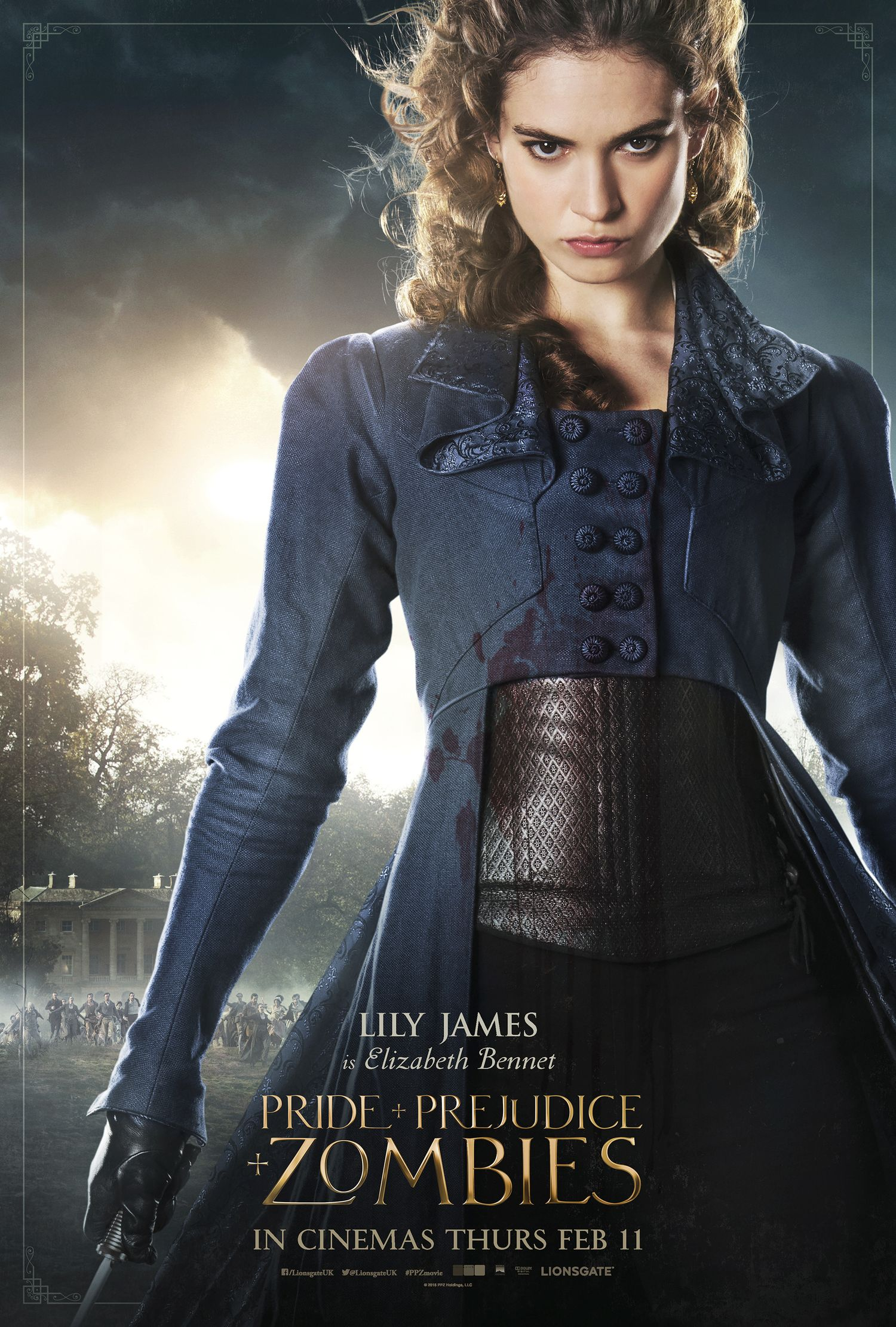 Six Pride And Prejudice And Zombies Character Posters Geektyrant Pride And Prejudice And Zombies Pride And Prejudice Elizabeth Bennet