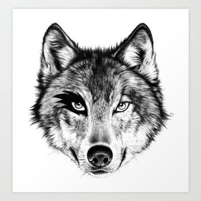 The Wolf Next Door Art Print by Florever - $16.00