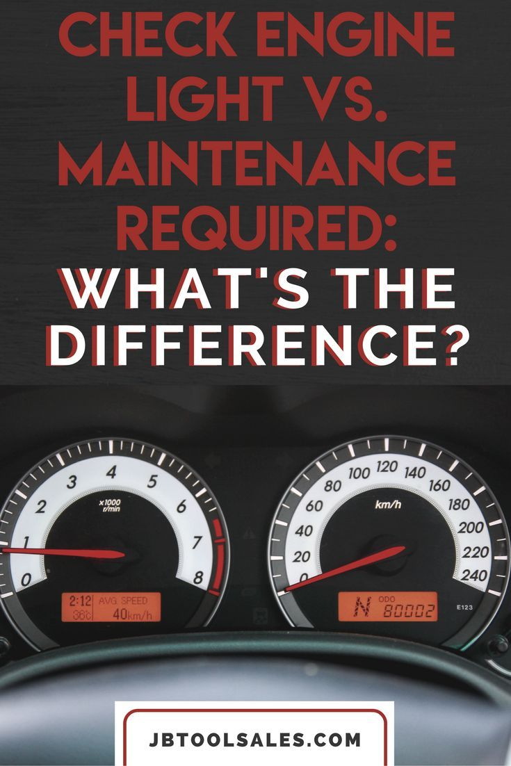 Check Engine Light Vs Maintenance Required What S The Difference