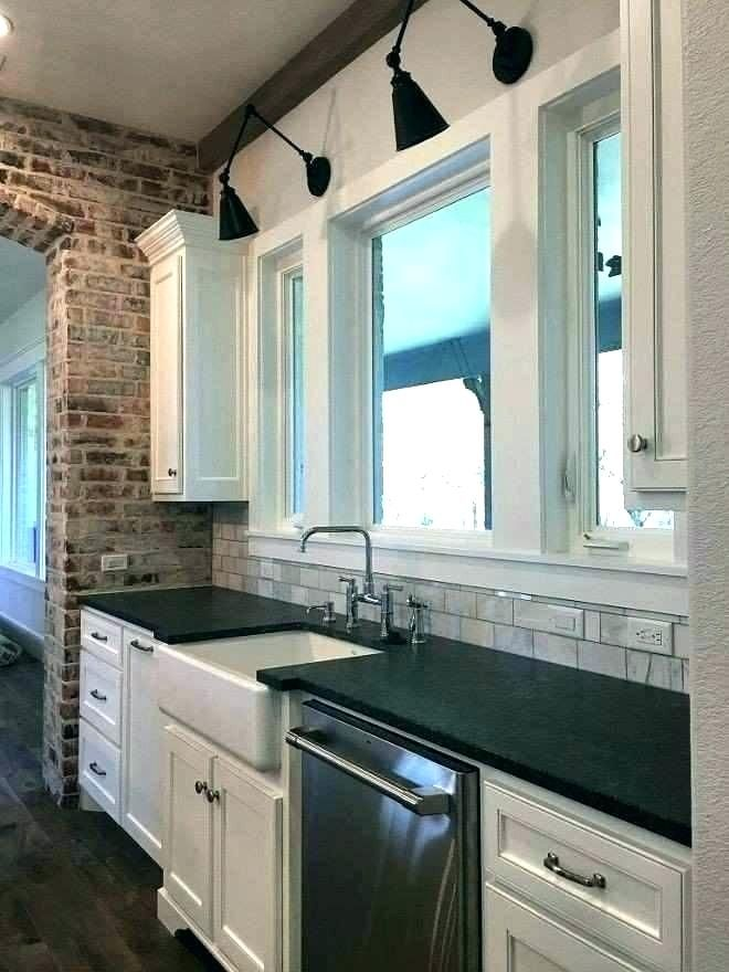 light over kitchen sink (With images) | Modern farmhouse ...