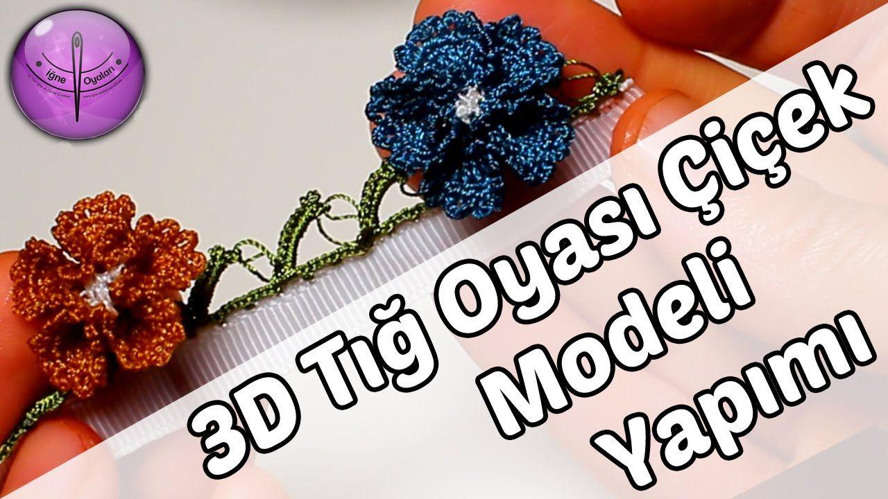Hanımeli Çiçeği Modeli Tığ Oyası Yapımı Türkçe Videolu