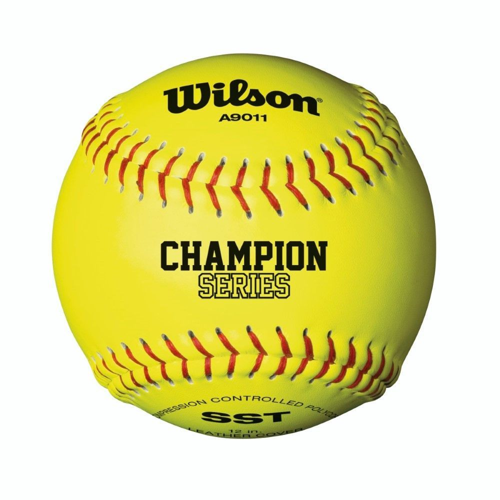 """Wilson A9011 12"""" Optic Yellow Fastpitch Softball 12 Pack"""