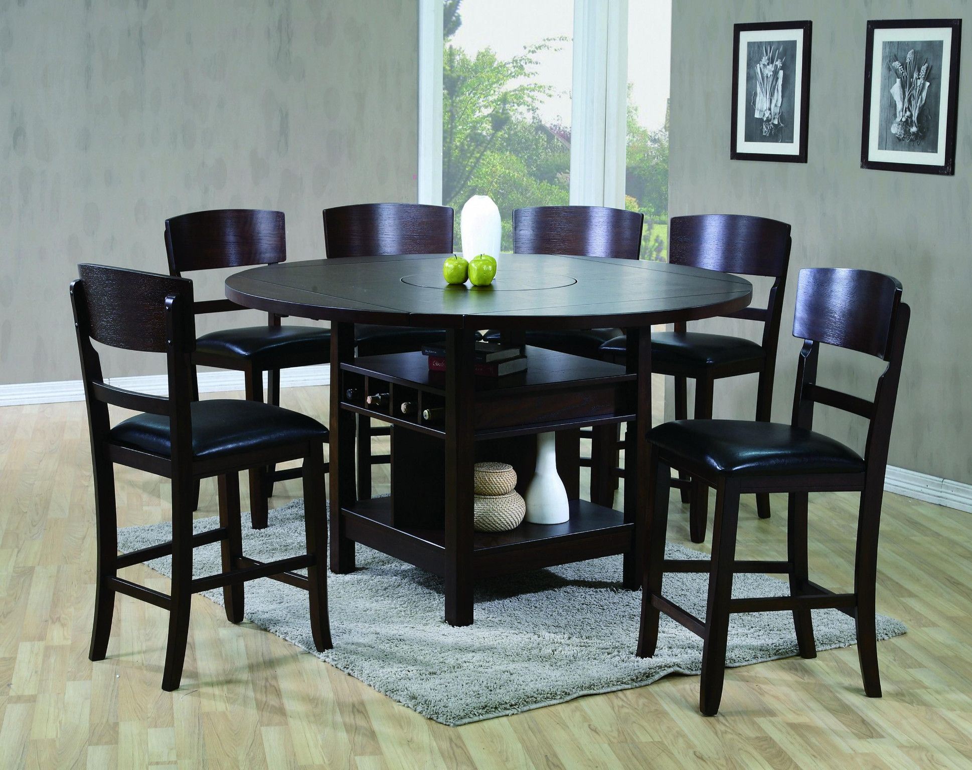 Conner Dark 7 Piece Counter Height Table And 6 Chairs 878