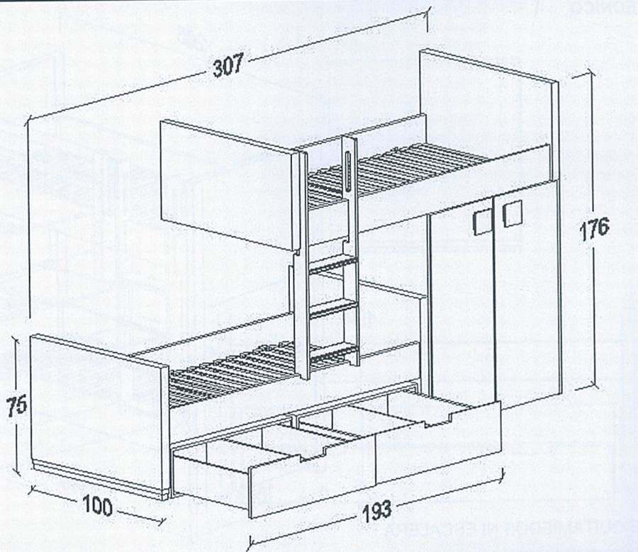 Nurseryworks duet bunk bed recamaras divertidas - Medidas camas infantiles ...