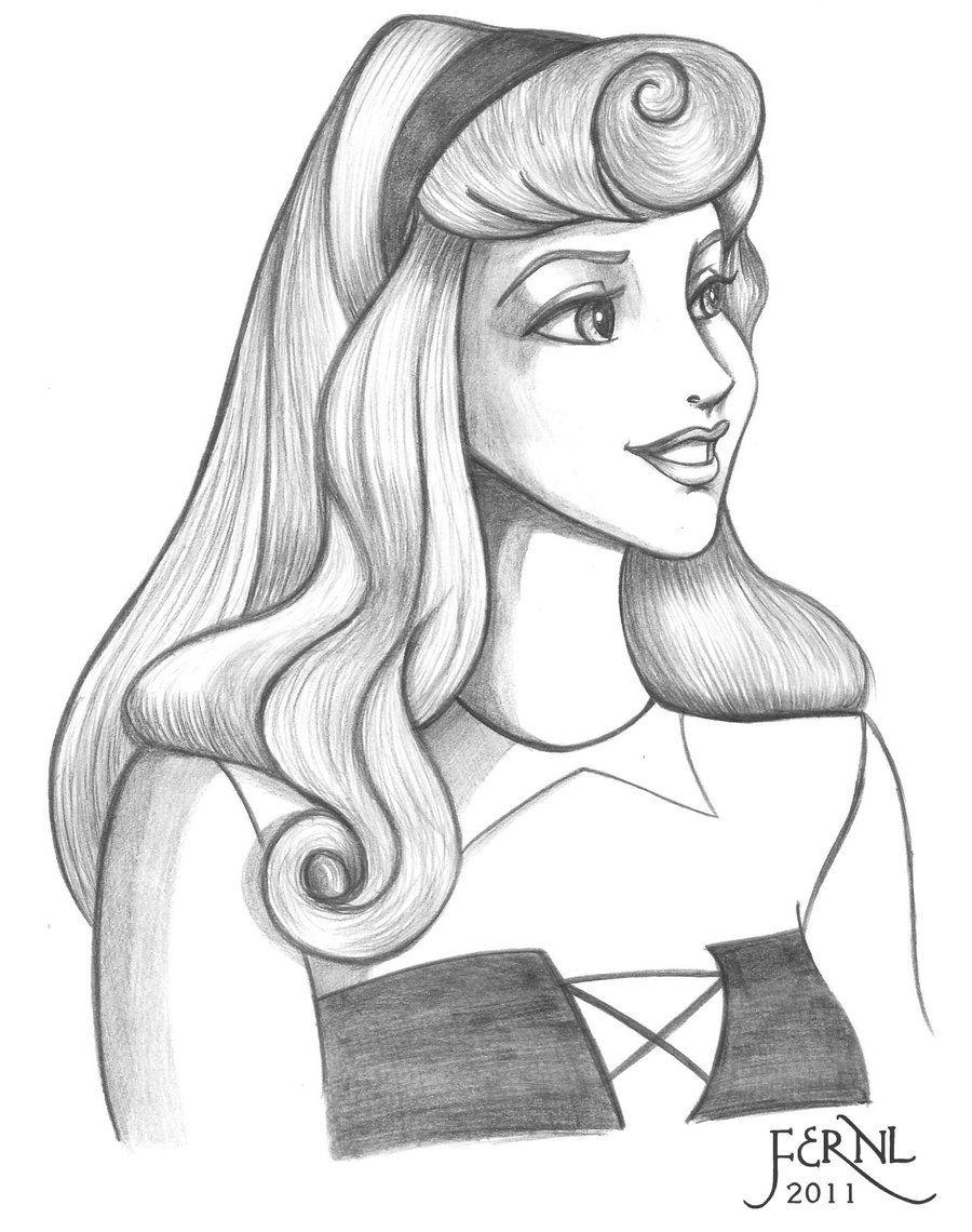 Princess Aurora Sketch By Fernl On Deviantart Disney Princess