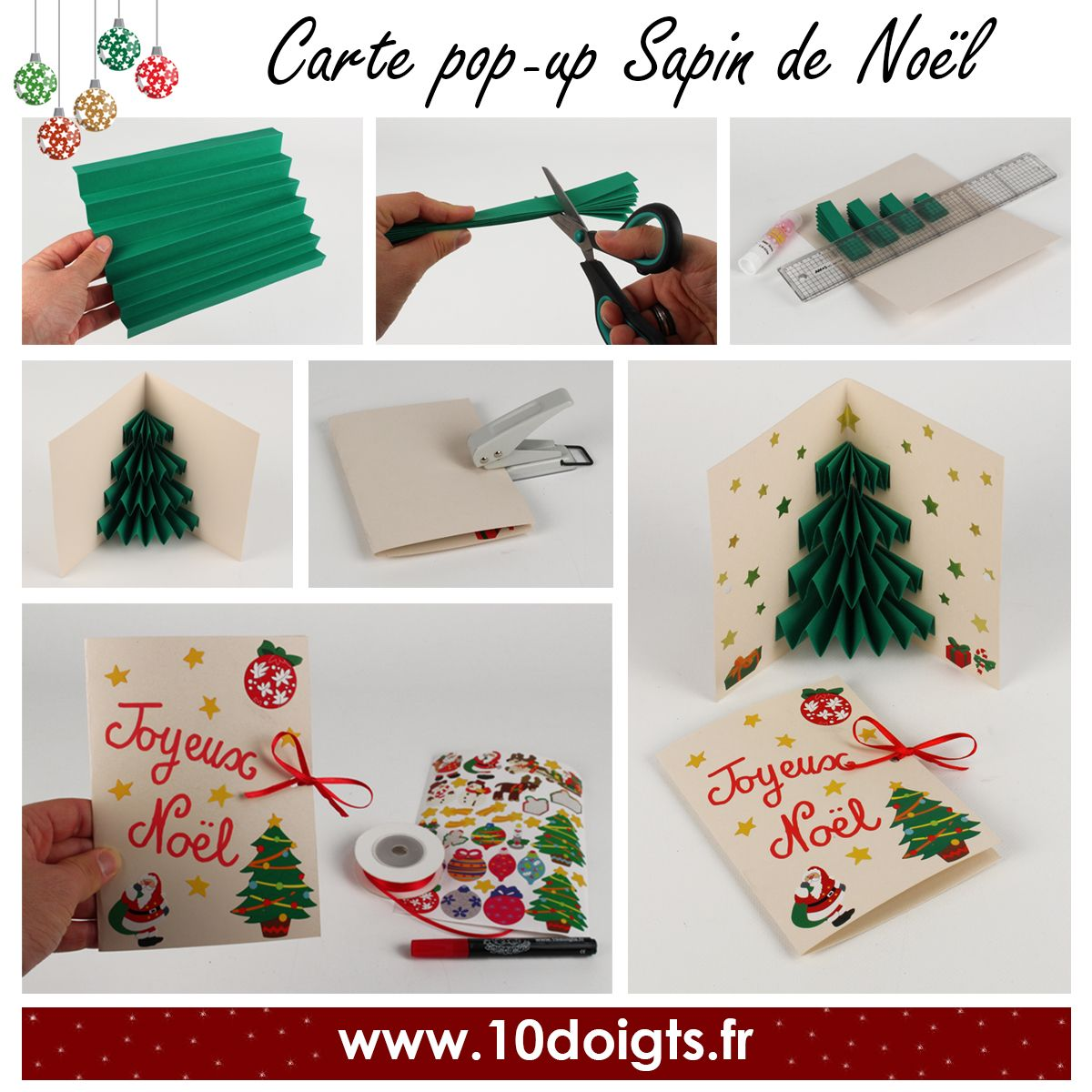 Fr diy carte pop up sapin de no l en diy christmas - Carte pop up facile ...