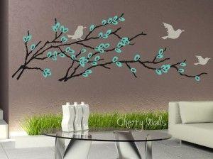 Vinilos adhesivos para pared florales ideas for Adhesivos neveras decoracion