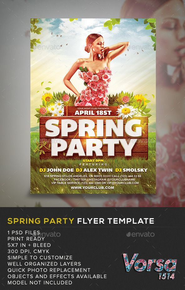 Spring Party Flyer Template Pinterest Party Flyer Flyer