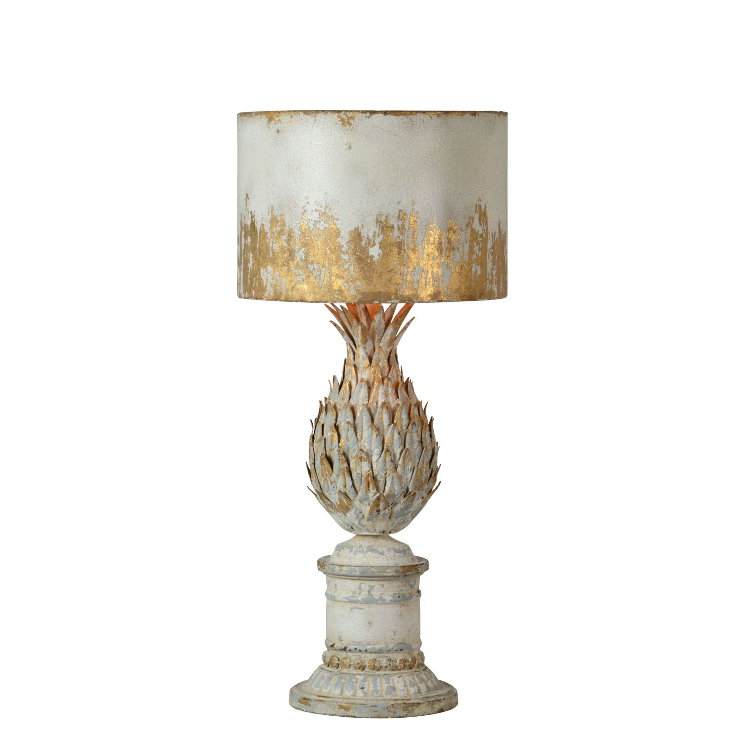 Forty West Antique White And Gold 12 Inch One Light Table Lamp ...