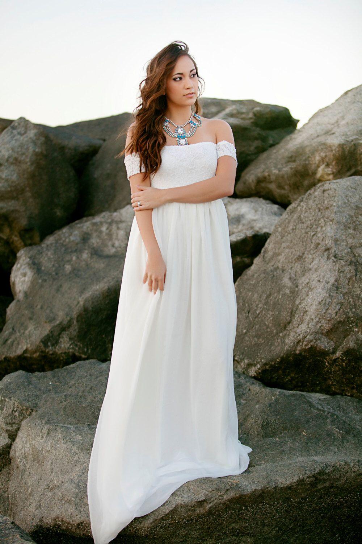 Wedding Dress Lace And Chiffon Babydoll Wedding Gown Bohemian Wedding Gowns Lace Casual Bridal Dress Informal Wedding Gowns