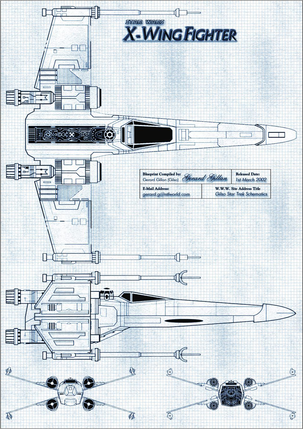 X wing fighter blueprint star wars christmas party pinterest x wing fighter blueprint malvernweather Image collections