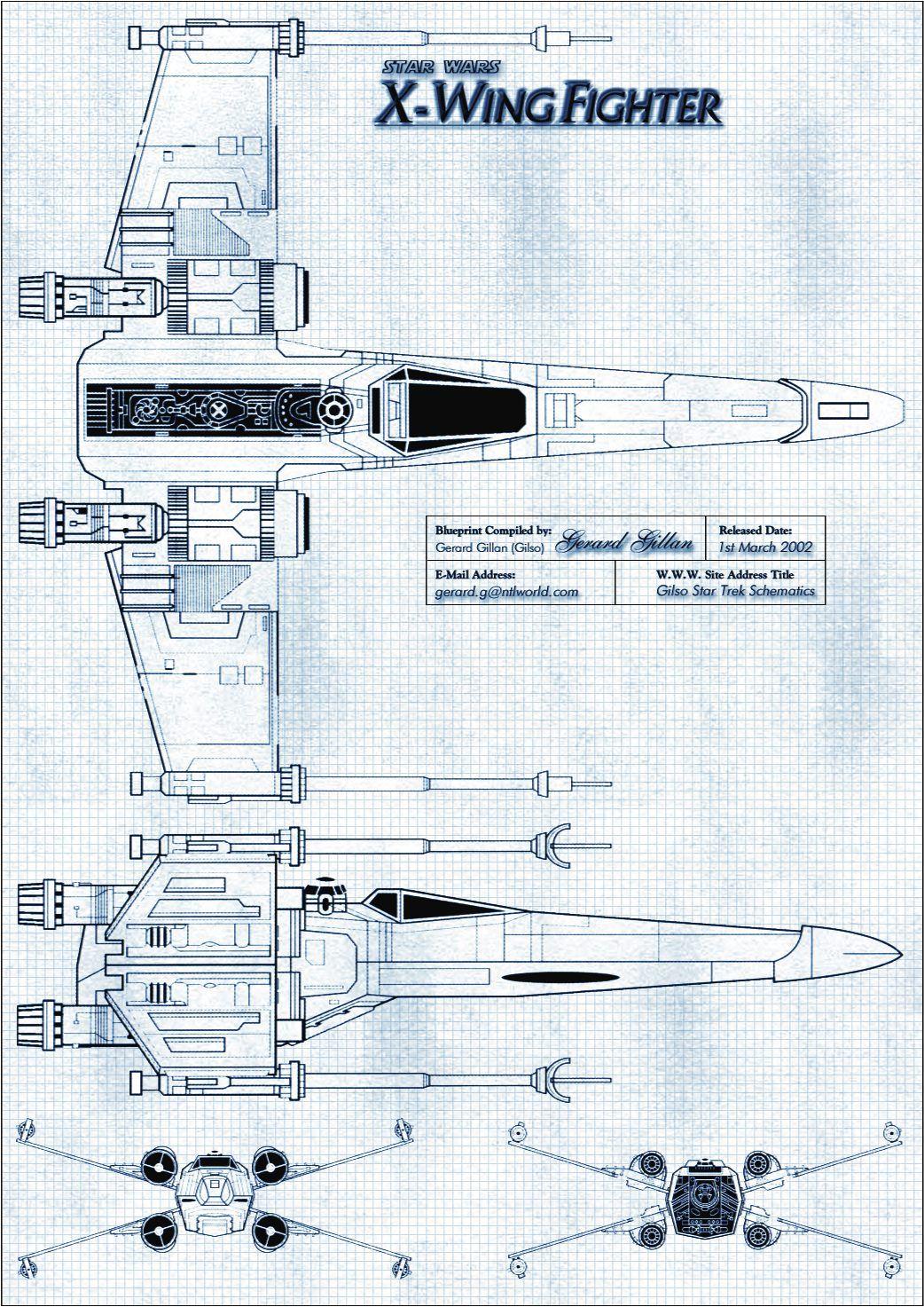 X wing fighter blueprint star wars pinterest guerra de las x wing fighter blueprint malvernweather Gallery