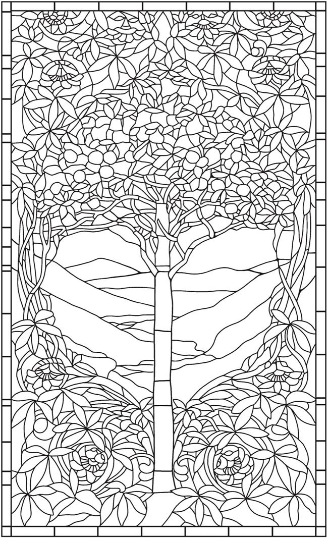 Creative Haven Magnificent Tiffany Windows Coloring Book | Lineas de ...