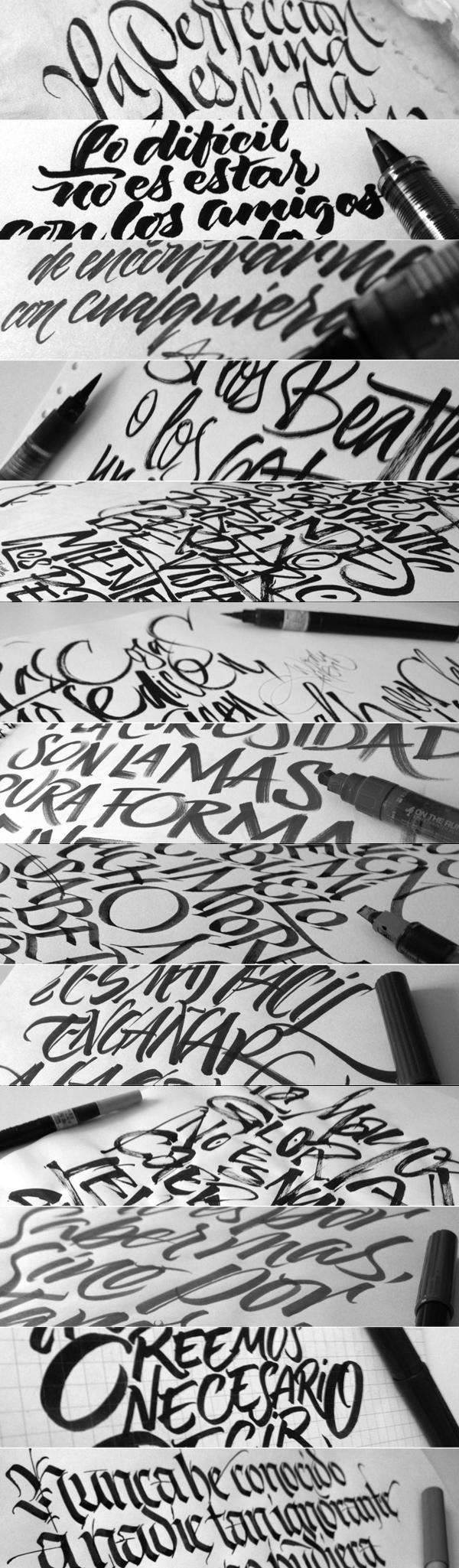 Coca cola zero calligraphy by joluvian via behance