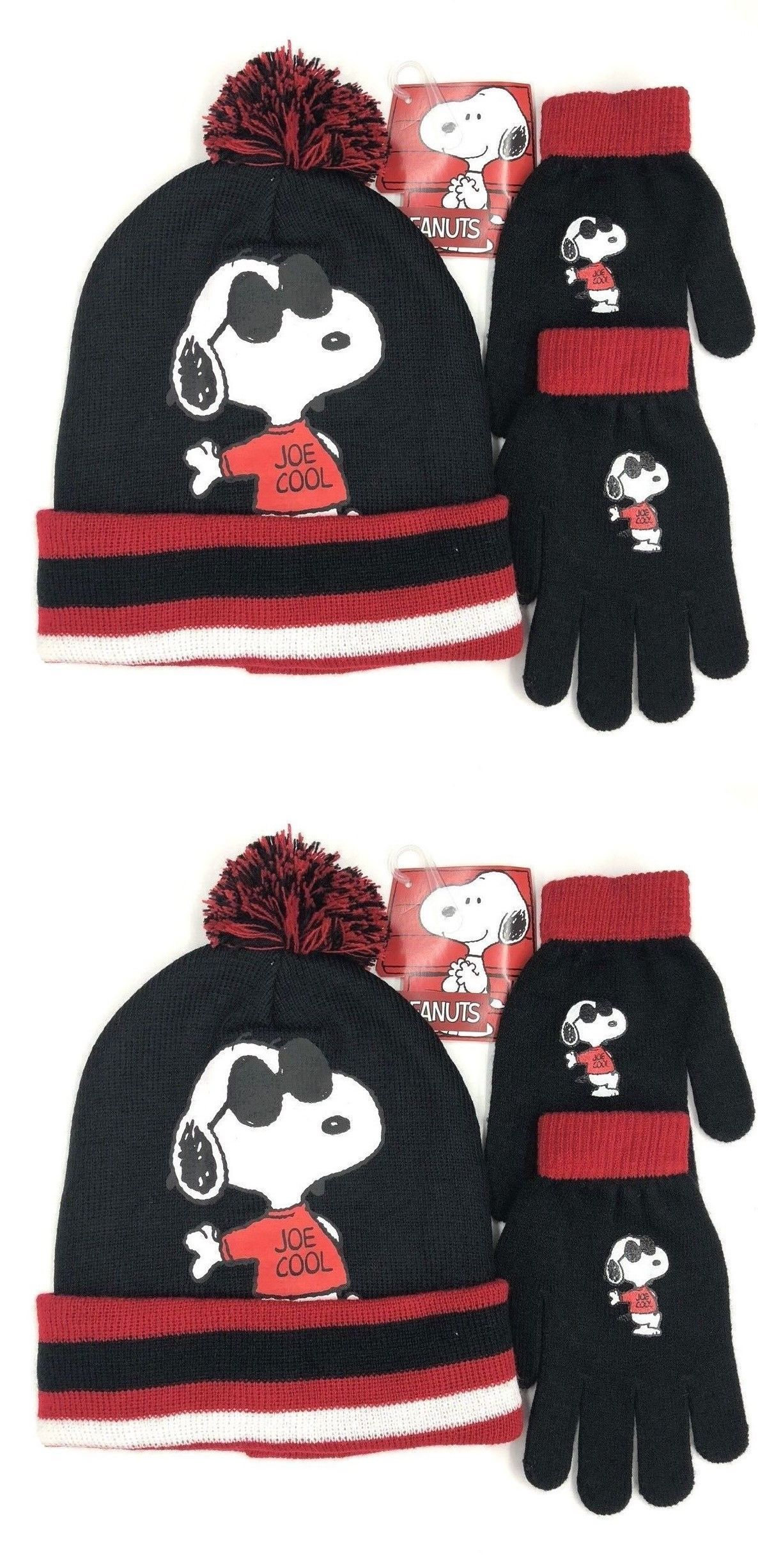 8a7104926df88e Hats 57884: Peanuts Snoopy Winter Hat With Gloves Set -> BUY IT NOW ONLY:  $14.99 on #eBay #peanuts #snoopy #winter #gloves
