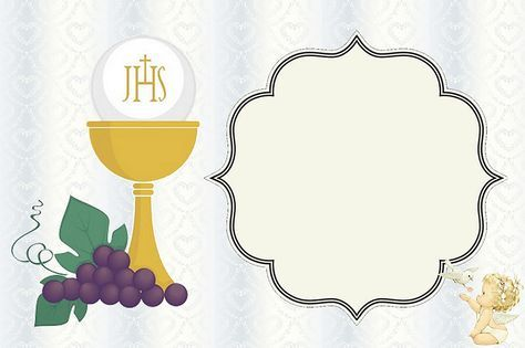 graphic about First Communion Cards Printable identify 1st Communion: Totally free Printable Invites or Playing cards