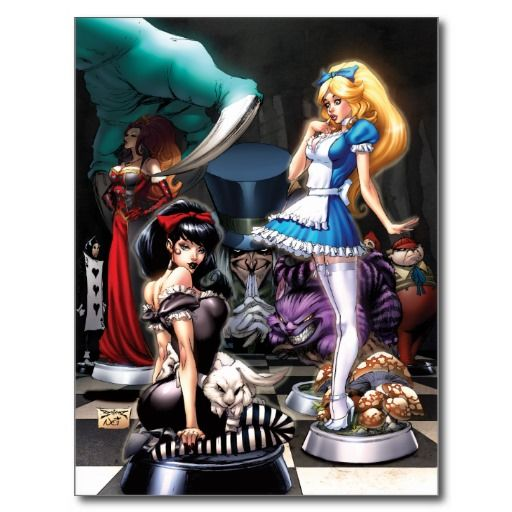 Beyond Wonderland #5 B - Chess piece Alice, Queen Postcard