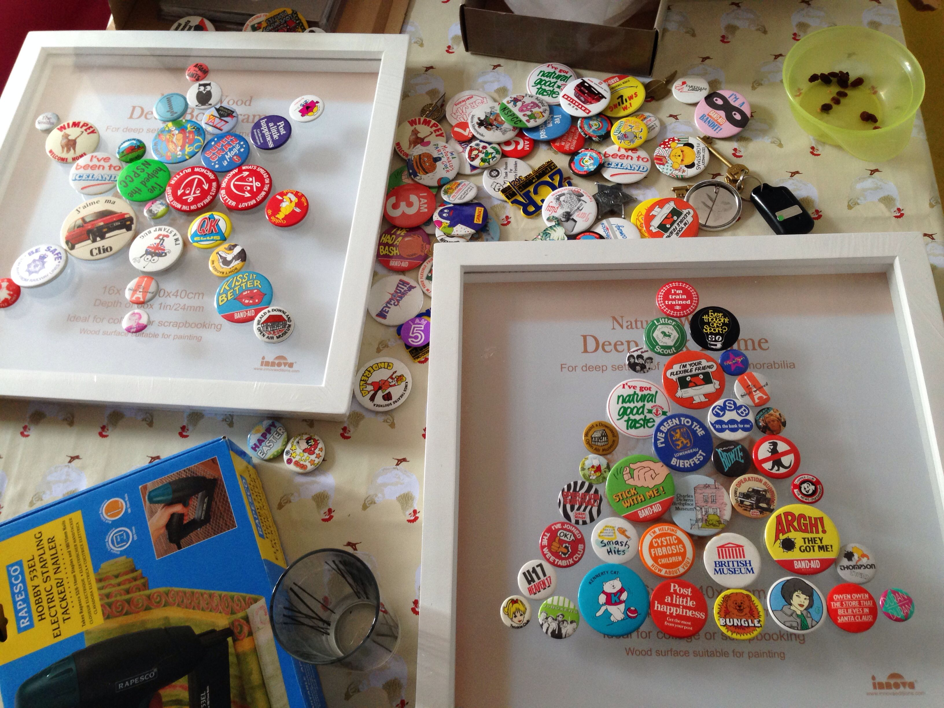 Button Badges From Ebay Box Frames From Hobby Craft Next Job Make