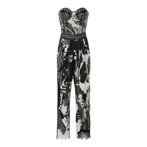f28f62f9e3097 Embroidered Bustier Jumpsuit