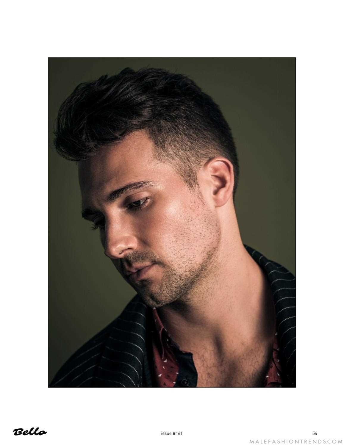 Oblong face haircut men james maslow luce eclécticos prints para bello magazine  james maslow