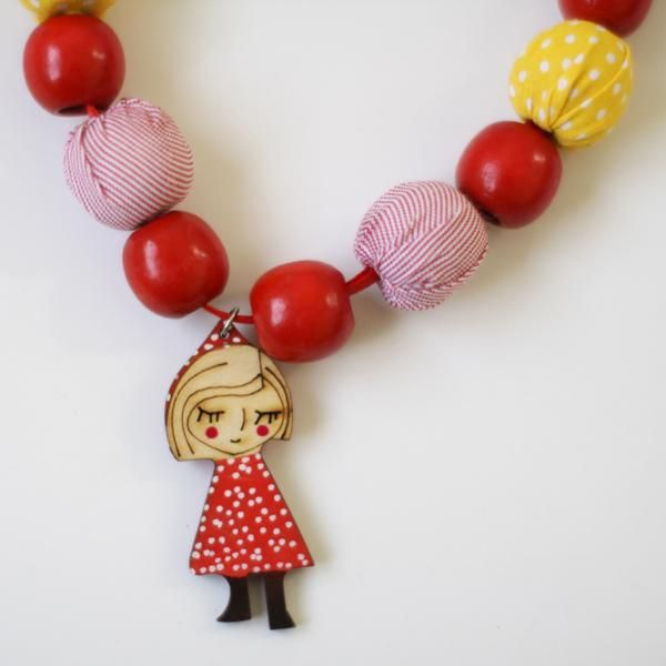 'Sleeping Jane' necklace from 'And the little dog laughed.'