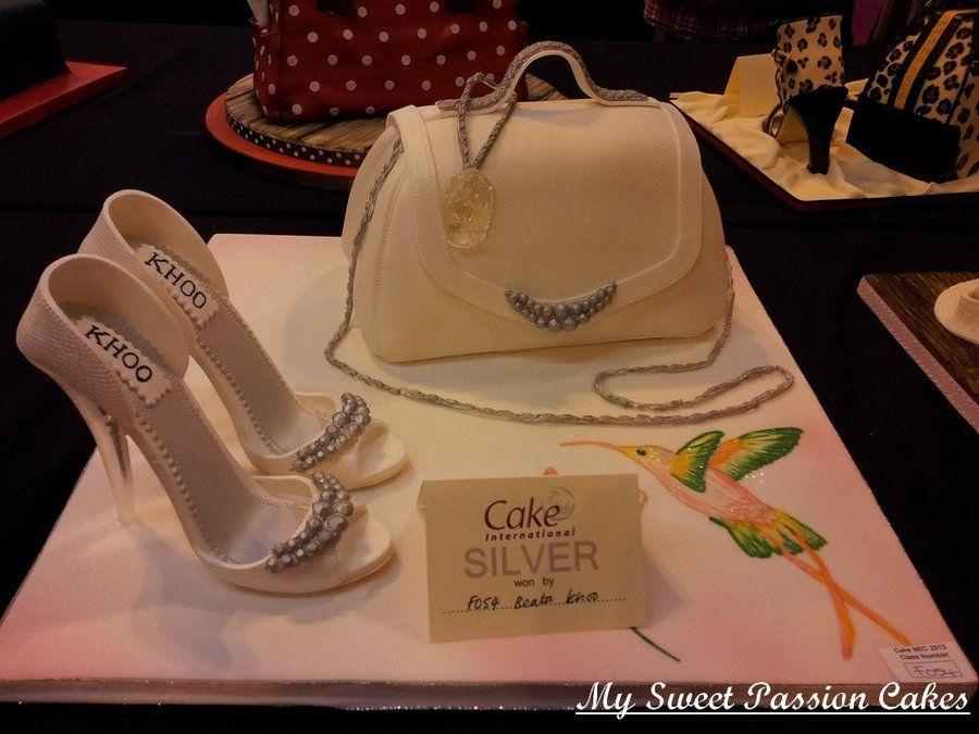 Cake Decorations Silver Shoes : Handbag and Shoes - by Beasia @ CakesDecor.com - cake ...