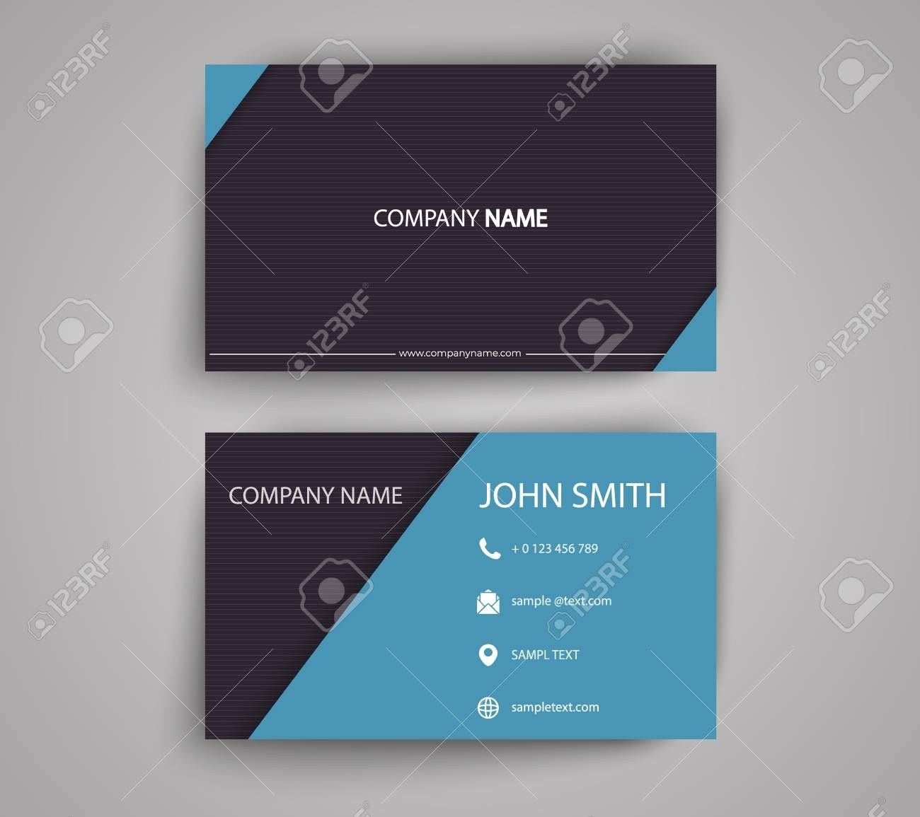 The Astonishing 012 Template Ideas Creative Double Sided Business Card With 2 Side In 2020 Business Card Template Word Double Sided Business Cards Business Card Design