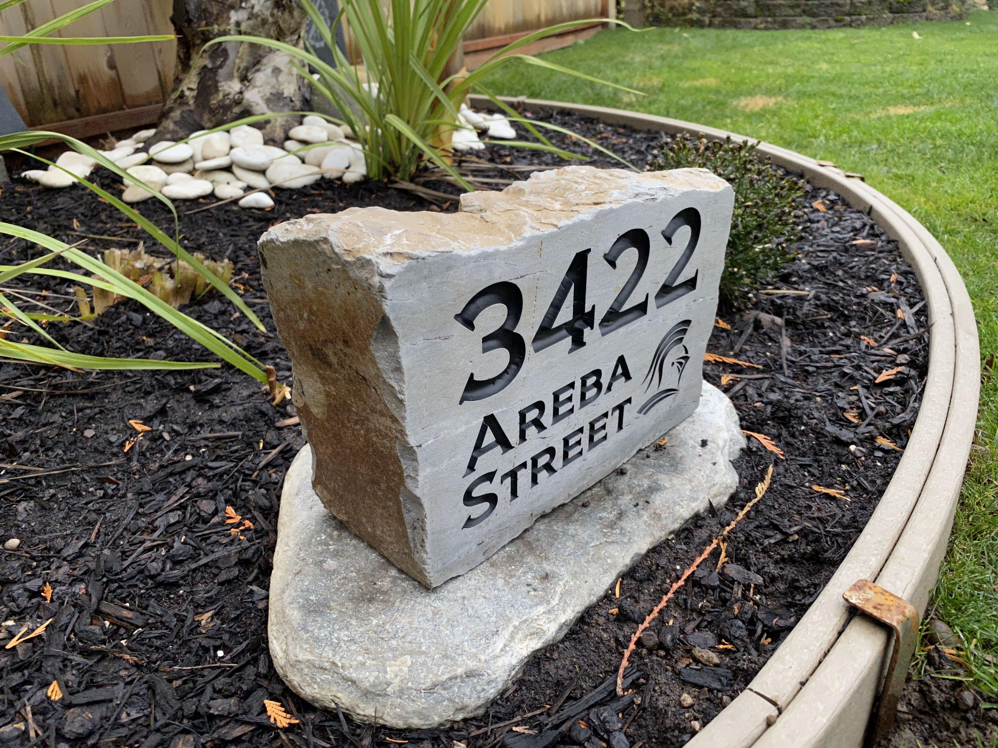 Ledge Stone Address Rocks Custom Engraved Affordable Natural
