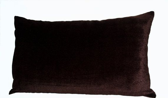 Chocolate Brown Velvet Pillow Lush Oatmeal Covers