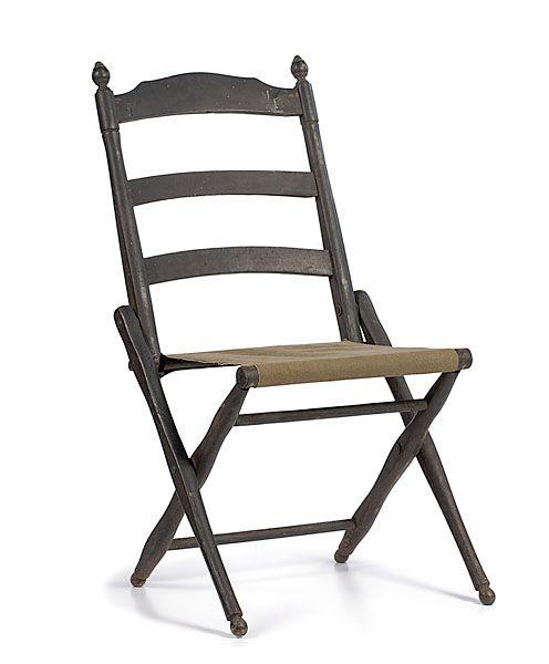 Civil war folding camp chair orginal civil war for Sillas para acampar walmart