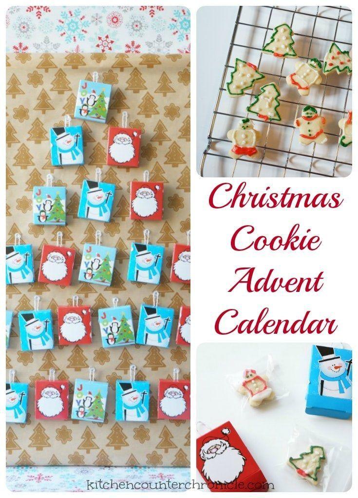 Christmas Cookie Advent Calendar Countdown To Christmas W