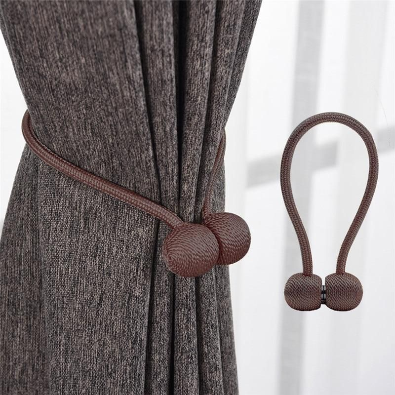 Tie Your Curtains Back In Style Using This Magnetic Buckle Curtain