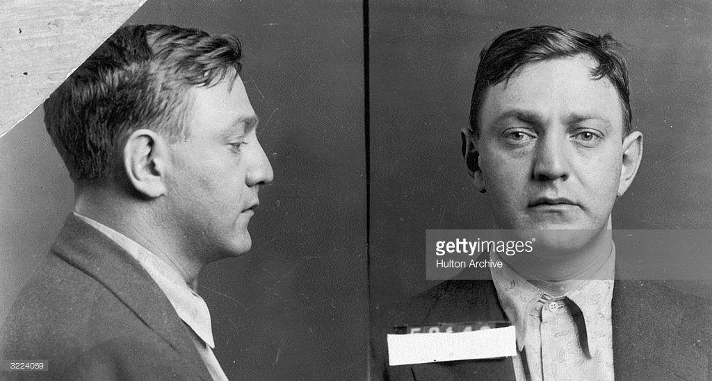 circa 1935: Mugshot of American gangster Arthur 'Dutch Schultz' Flegenheimer.