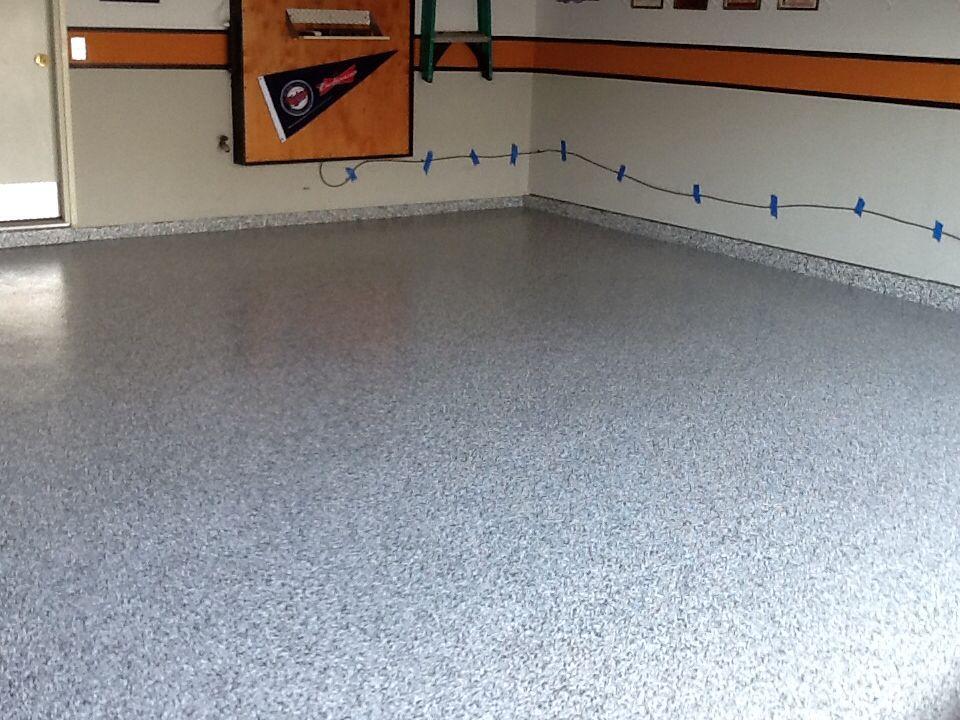 Harley Themed Garage With A Polyurea Garge Floor Coating 1 Day Baby Garage Floor Coatings Floor Coating Flooring
