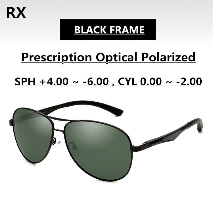 5cd6e0d2b44 Polarization Green Sunglasses Pilot Men Ophthalmic Lenses EXIA OPTICAL KD-101  Series