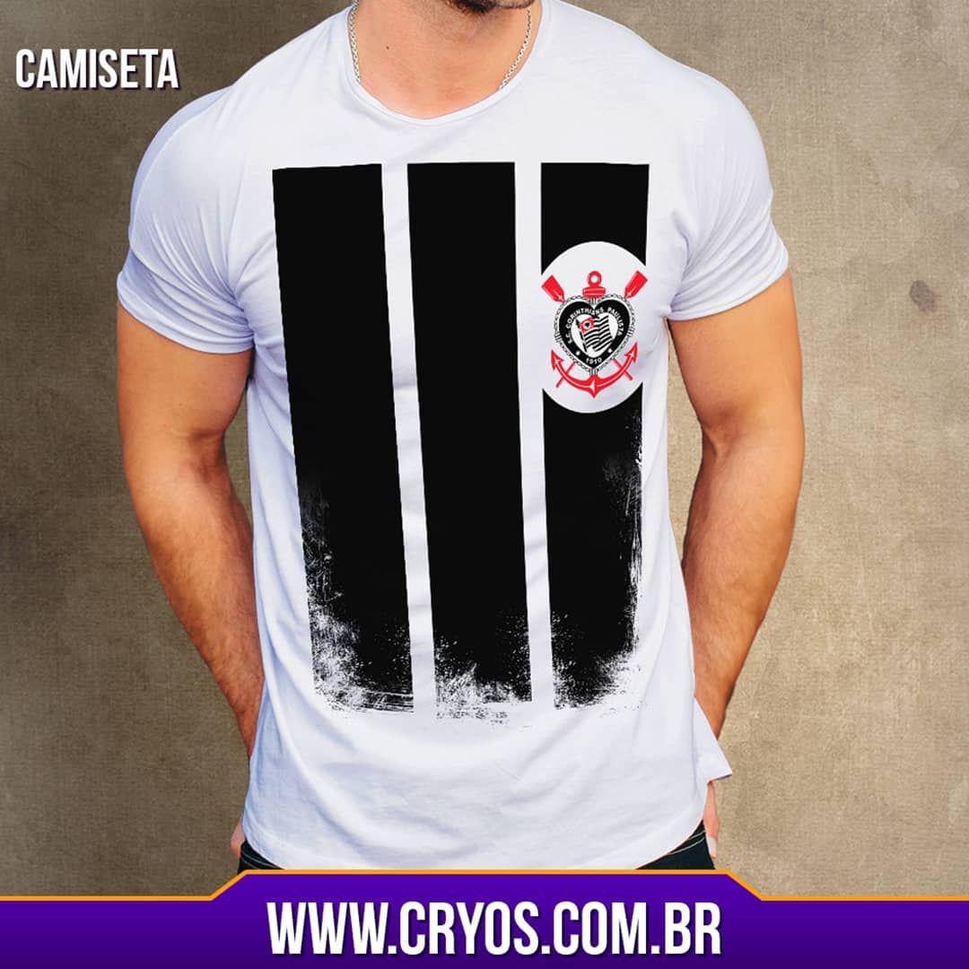 74f1bf34b6 Camiseta Corinthians 2018 design exclusivo acesse nosso site  www.cryos.com.br e