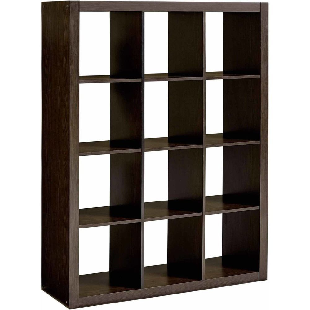 Vintage Vinyl Record Storage 12 Cube LP Album Rack Cabinet Shelves  Furniture New