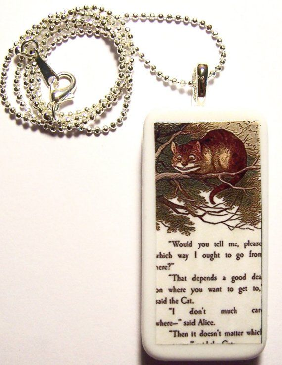 Never Ask A Cat For Directions Alice In by jewelrybytara on Etsy, $8.00