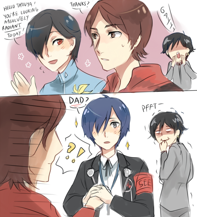 persona 3 2 1 crossover by chimelon loving that persona
