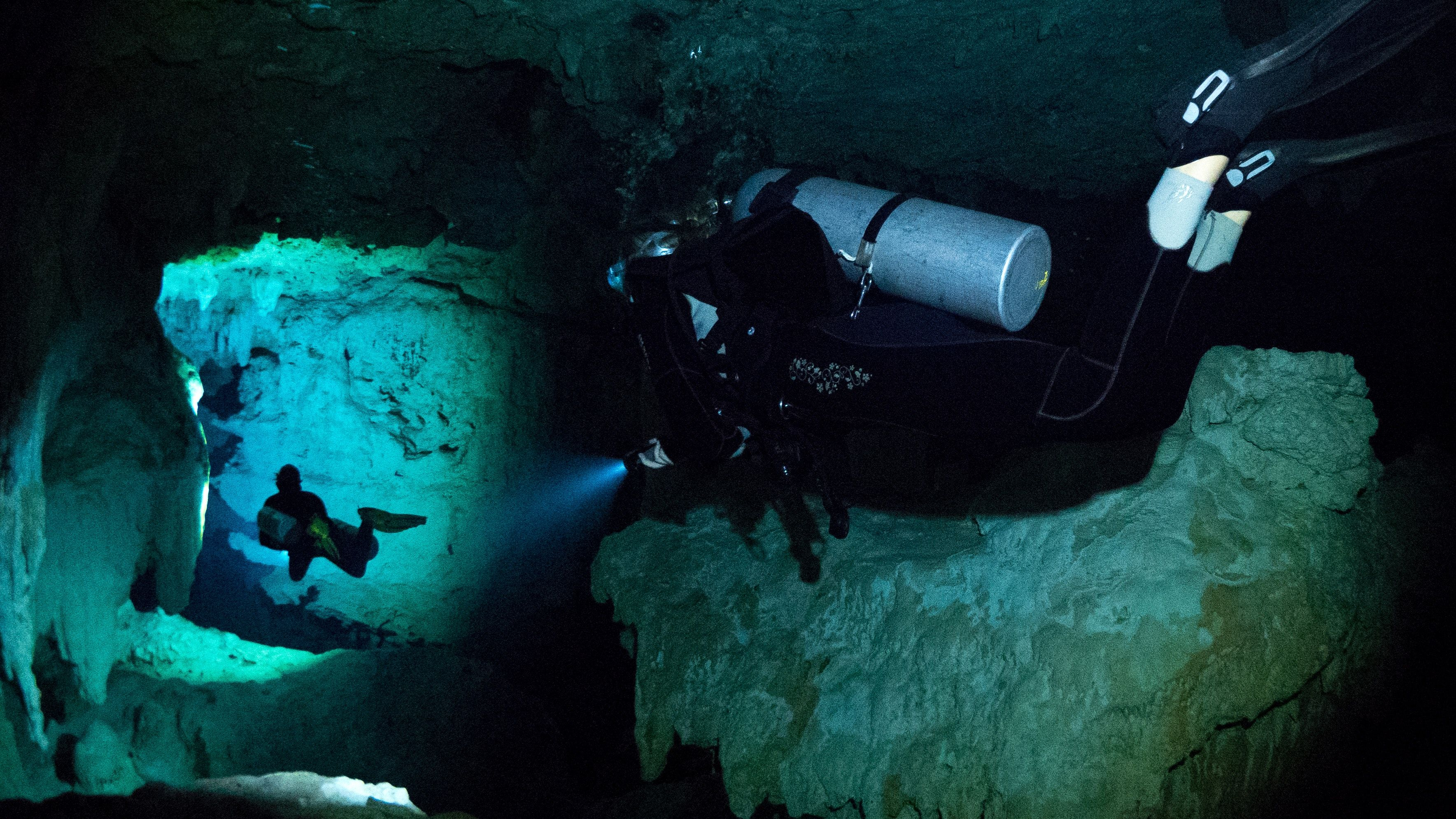 What It's Like To Cave Dive In Belize