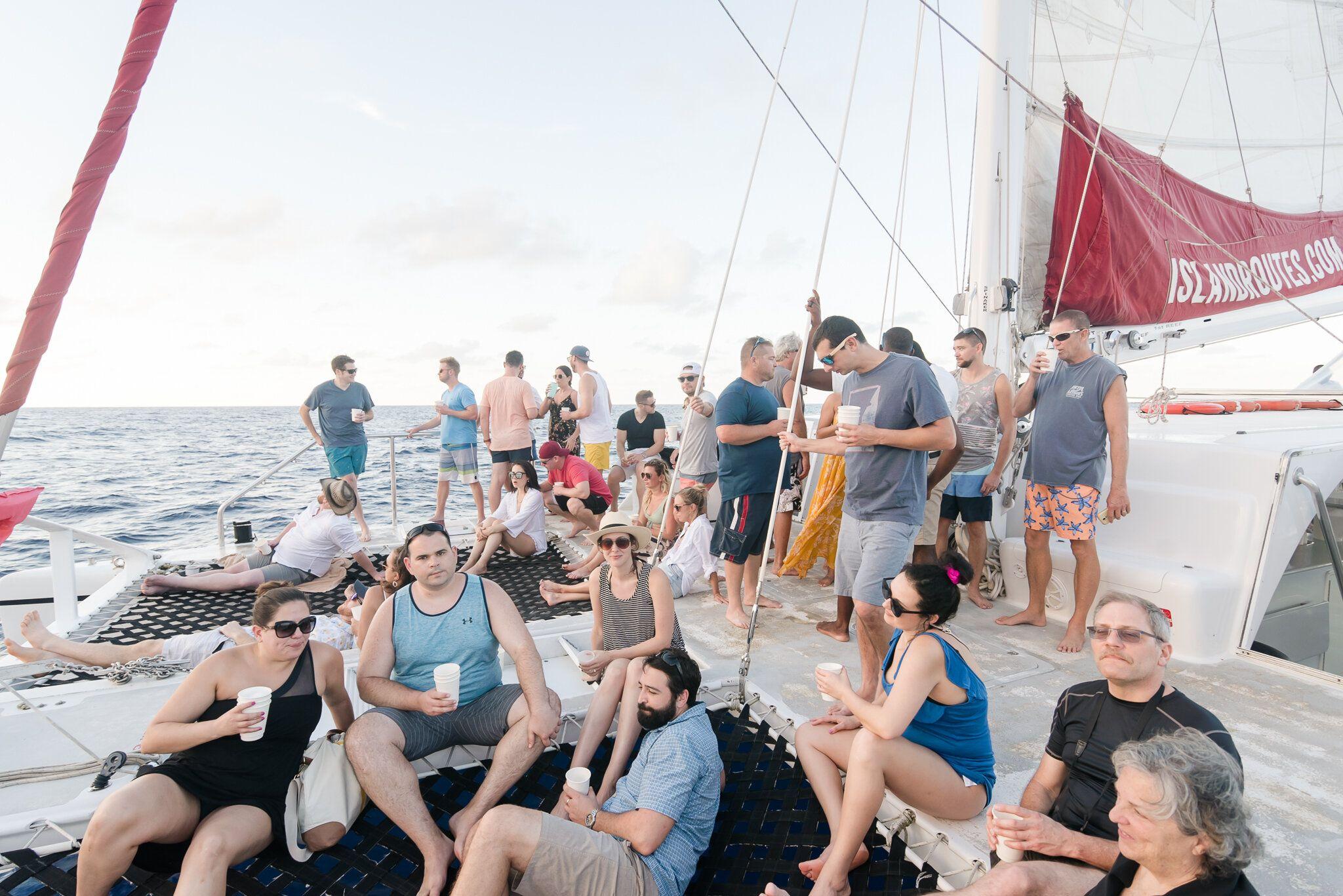 Jamaica Destination Wedding Next Day Catamaran Cruise in