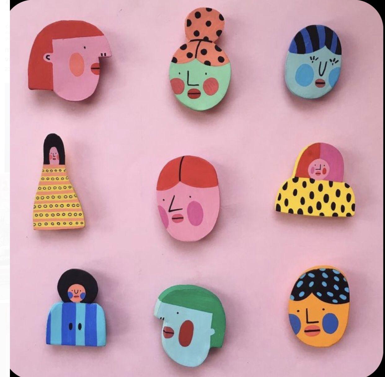 Handmade Clay Pin Backpack Pin Fire Clay Pins Polymer Clay Pin