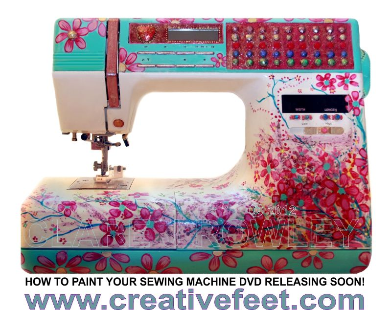 Learn how to paint your sewing machine using Clare Rowley's ... : sewing machines that quilt and embroidery - Adamdwight.com