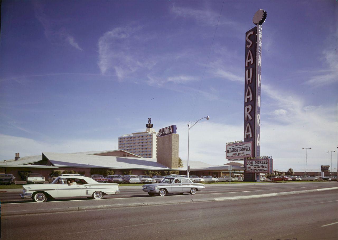 Sahara Las Vegas C 1961 Sahara S Tunis Hotel Tower Visible In