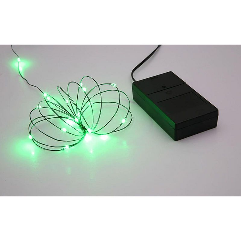 Battery Operated Multi Function Ultra Slim Wire Christmas Light Set