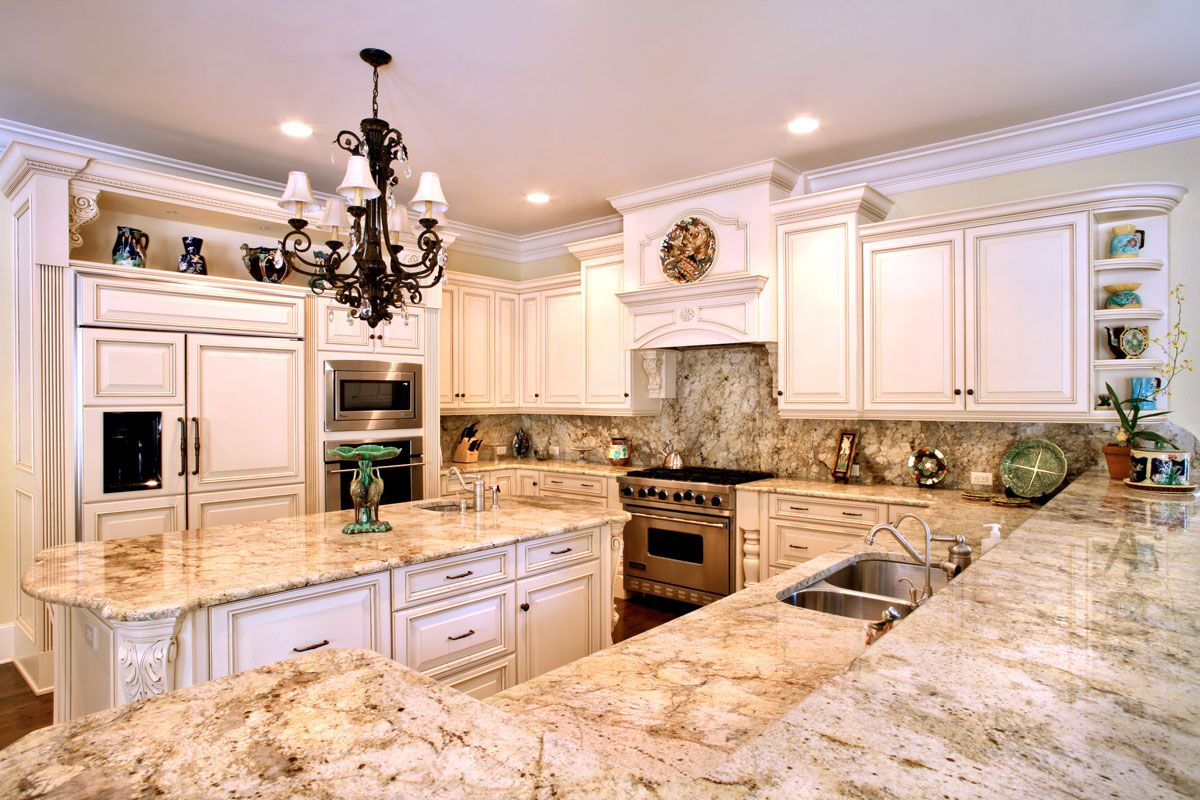 Custom Granite Countertops, Golden Oak Granite Kitchen Countertop